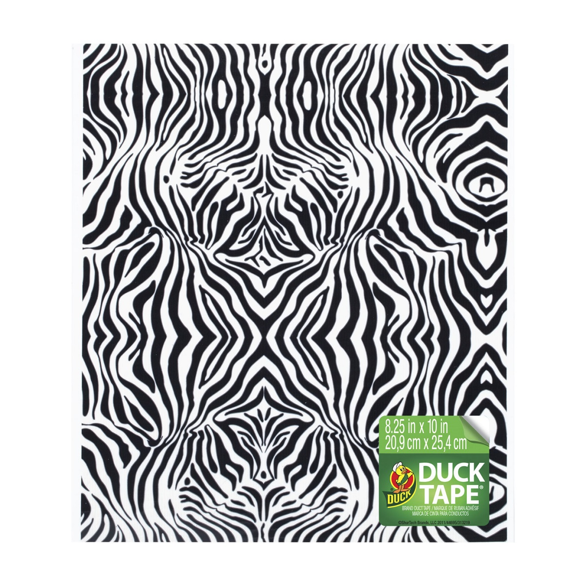 Duck Tape Sheets Stylish Zebra – Συσκευασία