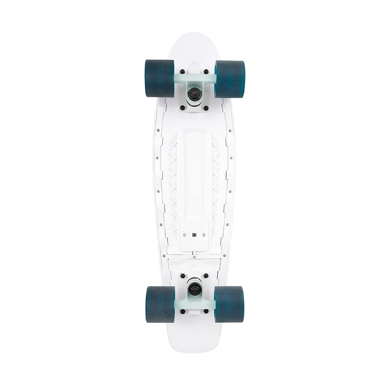 "Πατίνι Mini Cruiser Old School with LED lights 22"" Mykonos blue κάτω μέρος"