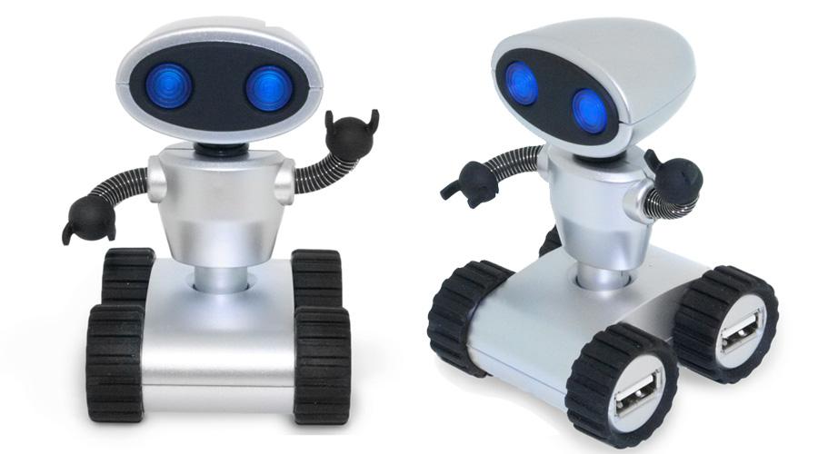 Robot USB Hub Ασημένιο_02