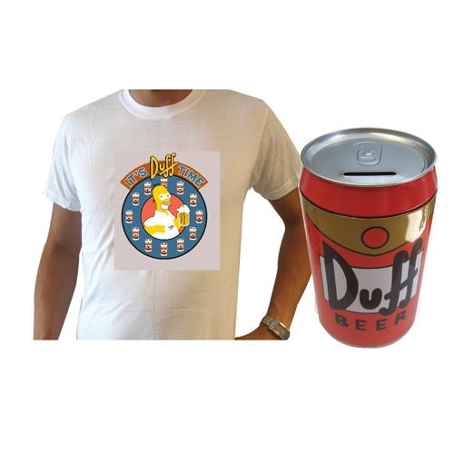Σετ Simpsons - Κουμπαράς και T-Shirt Duff προσωπικά δώρα