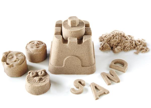 Διάφορα σχέδια κατασκευασμένα με Kinetic Sand