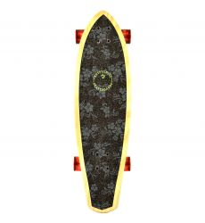 Kryptonics 32'' Tropical Borders Mini Longboard σε όρθια θέση