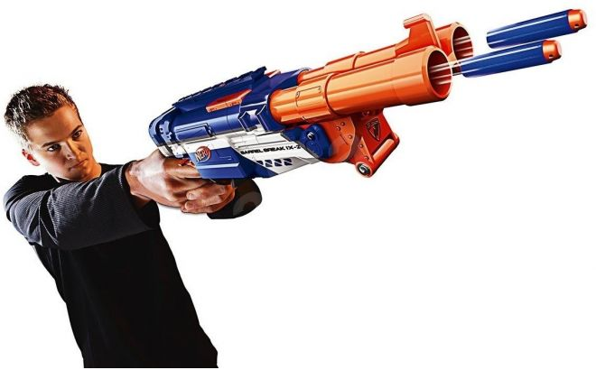 Nerf N Strike Barrel Break Blaster σε δράση