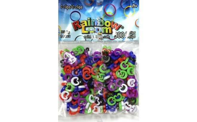 Rainbow Loom C-Clips Πολύχρωμα
