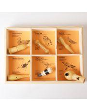 6 Συλλεκτικές  σφυρίχτρες με ήχους άγριων ευρωπαϊκών πουλιών