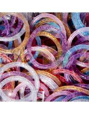 Glitter Χρωματιστά Λαστιχάκια για τον Αργαλειό Rainbow Loom