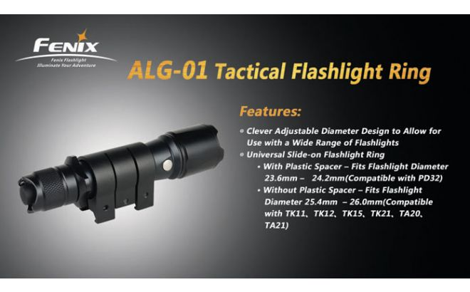 Fenix ALG-01 Tactical Flashlight Ring Χαρακτηριστικά 2